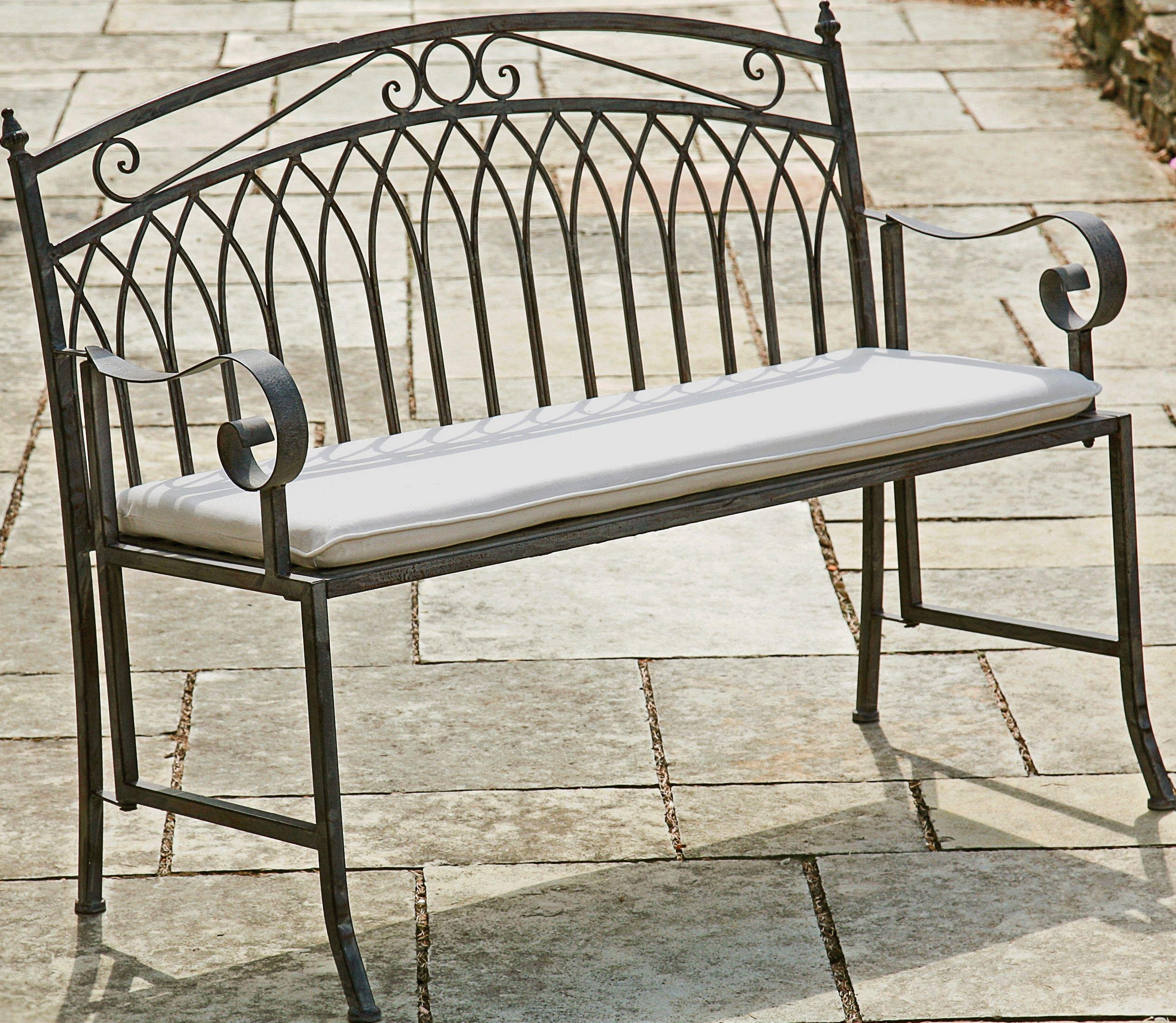 Argos Garden Bench: Versailles Garden Steel Folding Bench - Grey