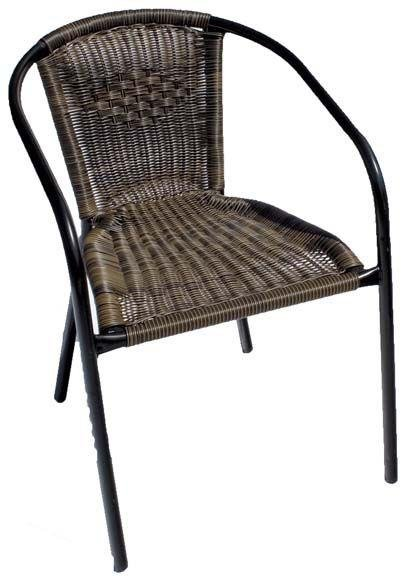 Europa Leisure San Remo Chair - Set of Two - Black. lowest price