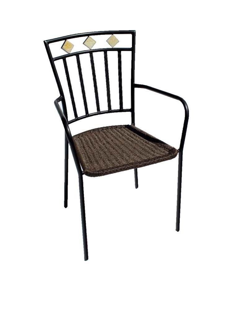 Europa Leisure Murcia Chair - Set of Two - Black. lowest price