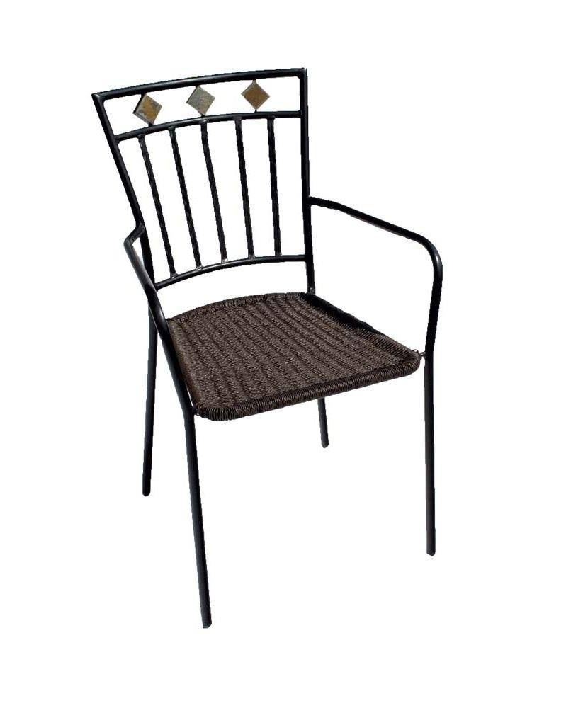 Europa Leisure Malaga Chair - Set of Two - Black. lowest price