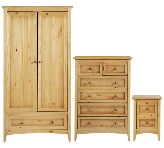 Image of Collection Camborne 3 Piece Package - Oak Stain