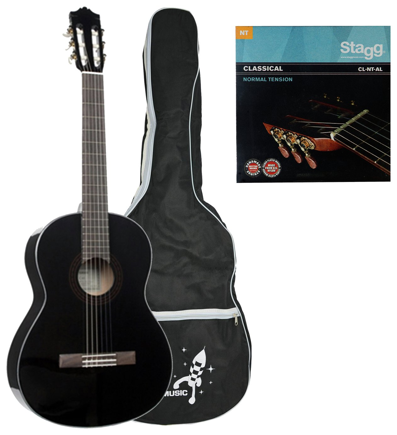 Yamaha C40ii Full Classical Guitar - Black