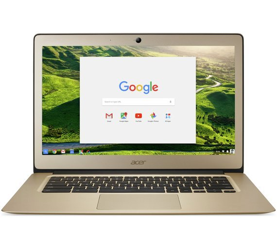 Image of Acer 14 Inch Celeron 2GB 32GB Chromebook - Gold