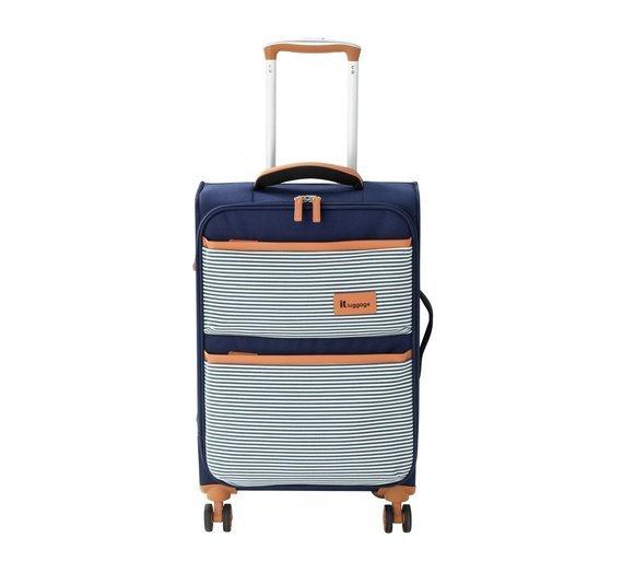 IT Luggage 4 Wheel Lightweight Soft Cabin Case - Nautical