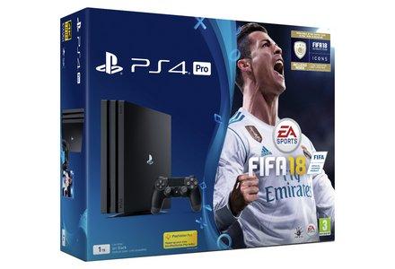PS4 Pro Black 1TB with FIFA 18 Bundle