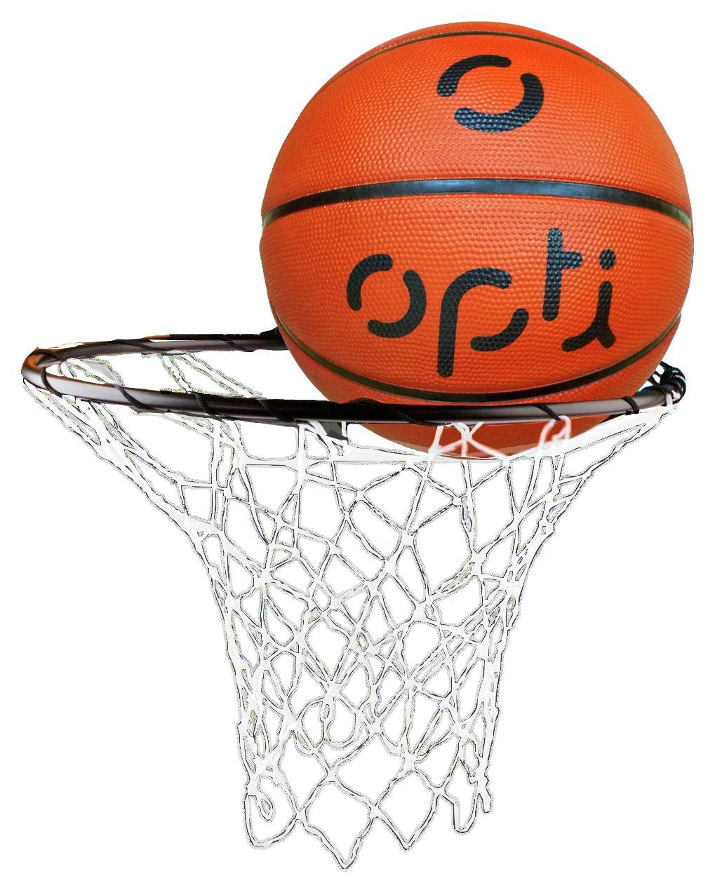Opti Basketball Ring Net And Ball