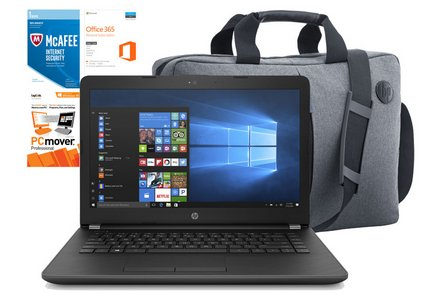 HP 14 Inch Intel Pentium 4GB 128GB SSD Laptop Bundle - Grey