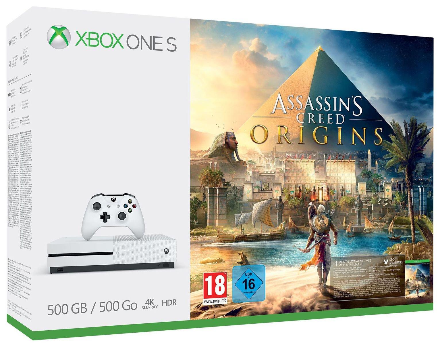 Xbox One S 500GB Assassins Creed Bundle