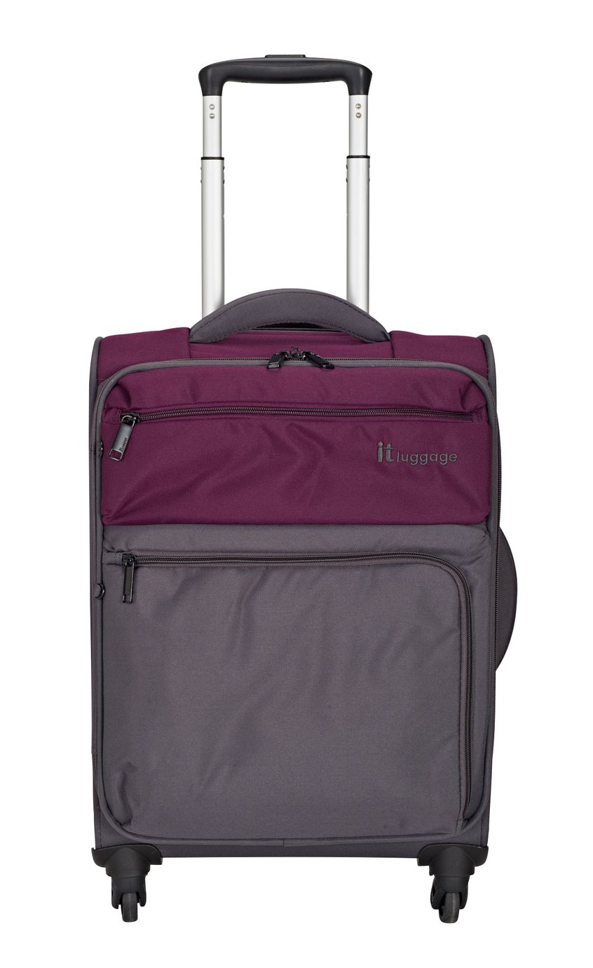 IT Luggage DuoTone 4 Wheel Potent Purple Suitcase - Small
