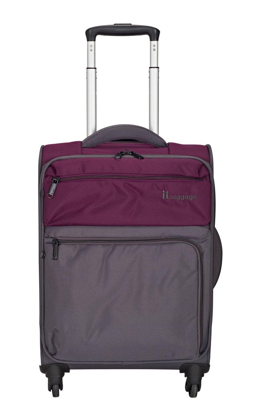 IT Luggage DuoTone 4 Wheel Potent Purple Suitcase - Small