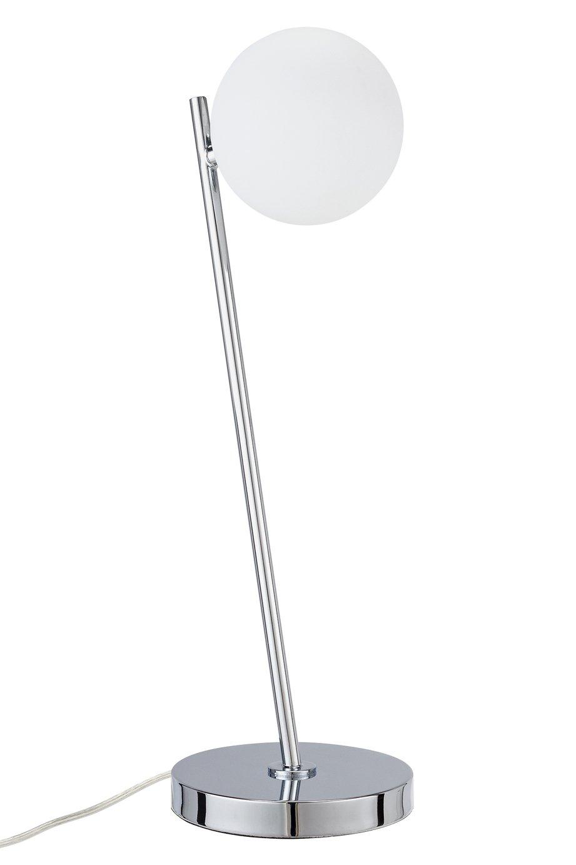 Argos Home Peebles Glass Globe Table Lamp - Chrome