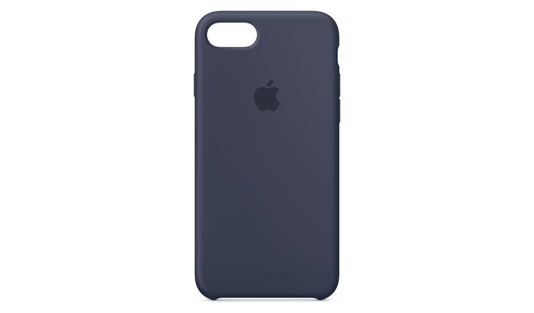 new concept 8608f cb3f6 Buy iPhone 7/ 8 Silicone Case - Midnight Blue | Mobile phone cases | Argos