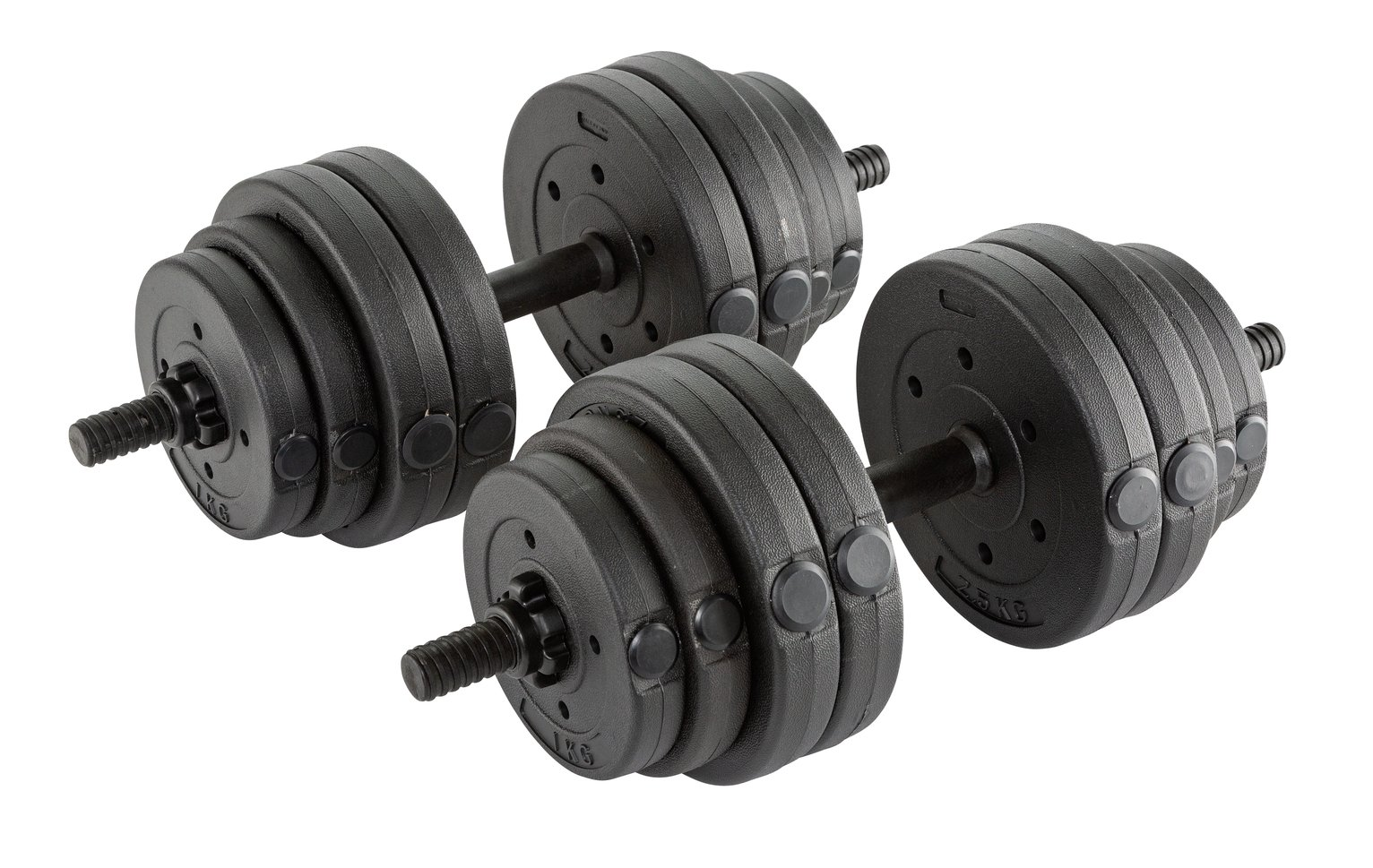 Opti Vinyl Barbell and Dumbbell Set - 30kg