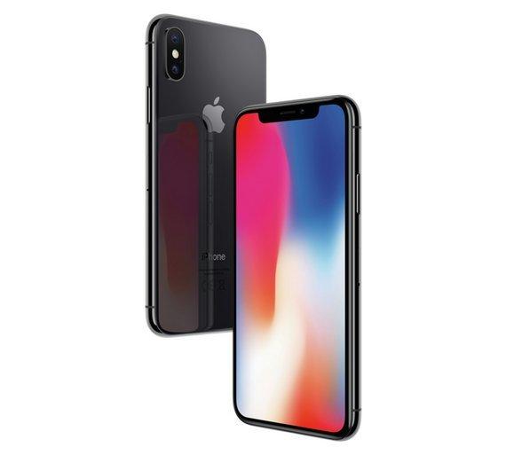 Apple Sim Free iPhone X 64GB Mobile Phone - Space Grey
