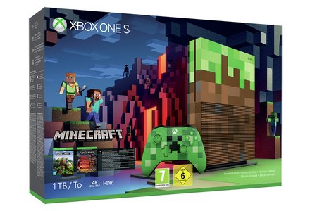 Xbox One S 1TB Minecraft Limited Edition Console Bundle