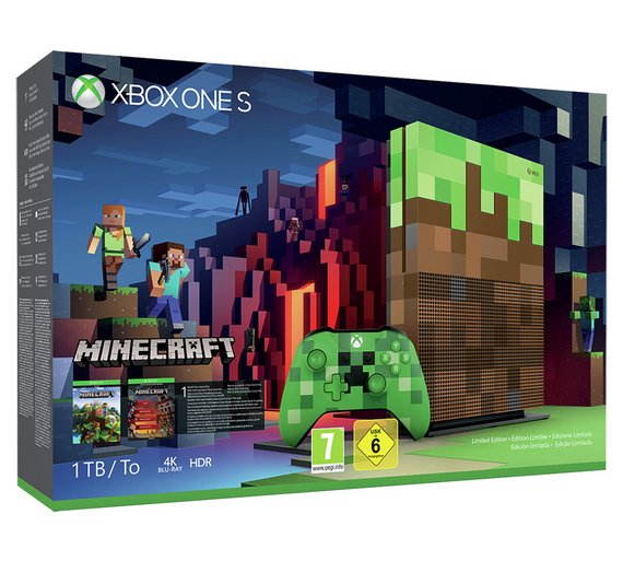Buy xbox one s 1tb minecraft limited edition console bundle xbox play video freerunsca Images
