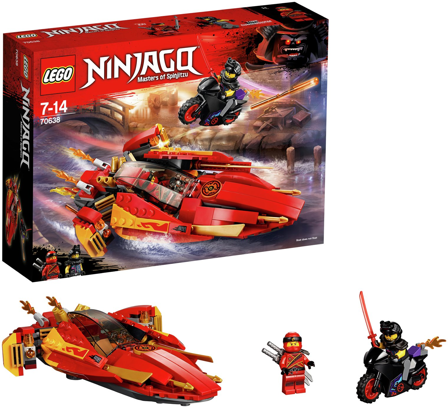 LEGO Ninjago Katana V11 Toy Boat & Bike Building Set - 70638