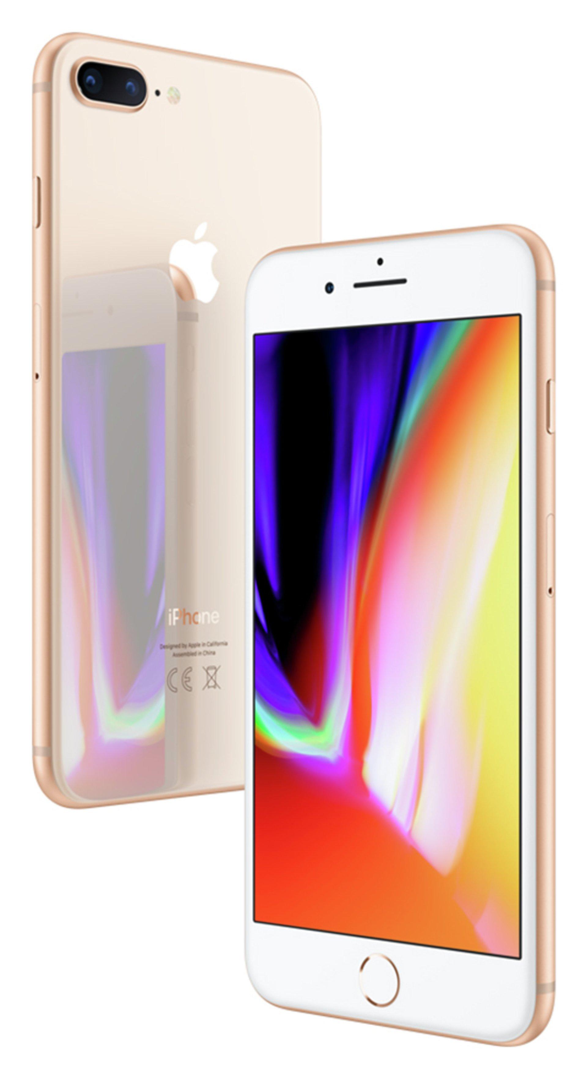 Apple Sim Free iPhone 8 Plus 64GB Mobile Phone - Gold