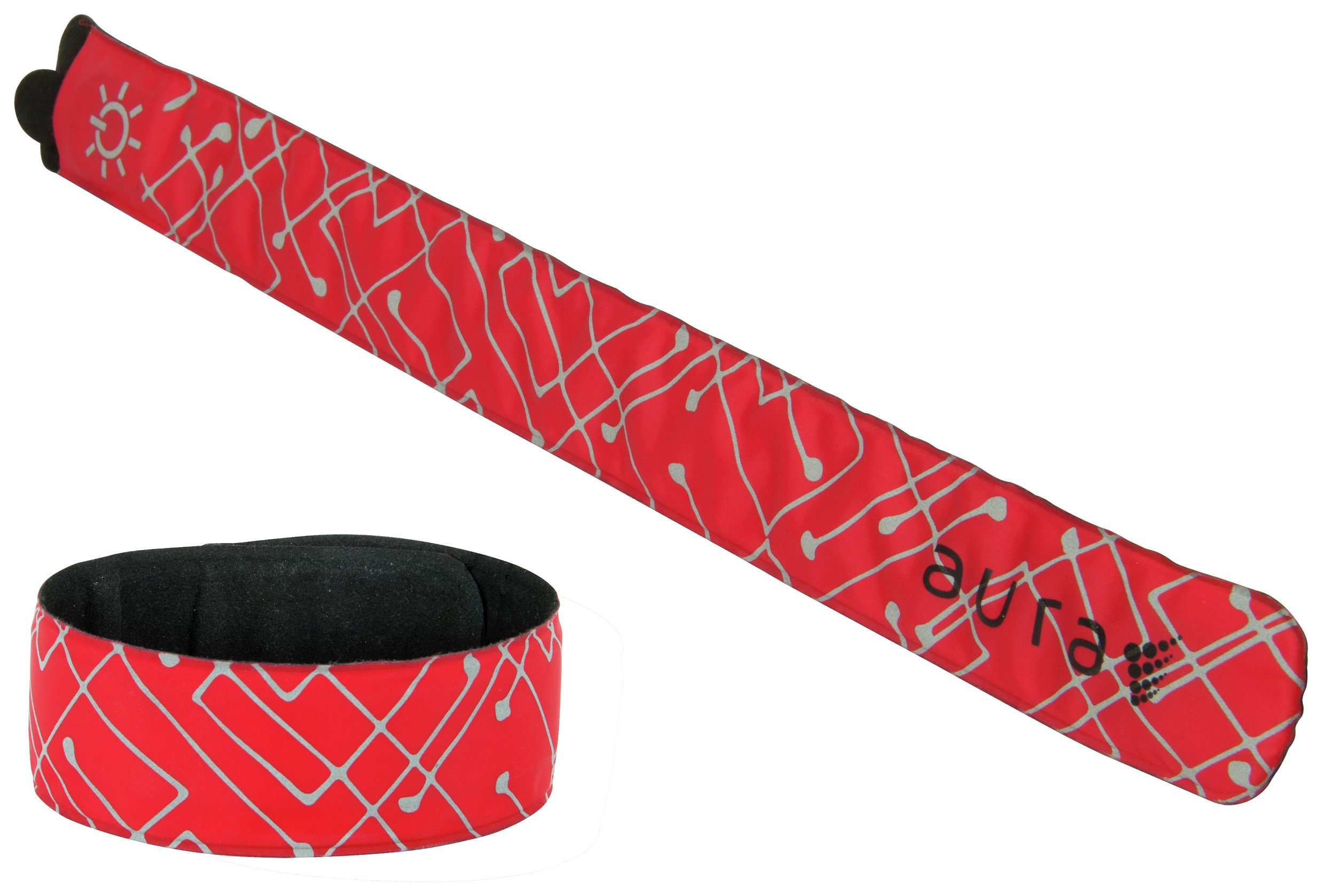 Aura LED Red Slap Band - Twin Pack