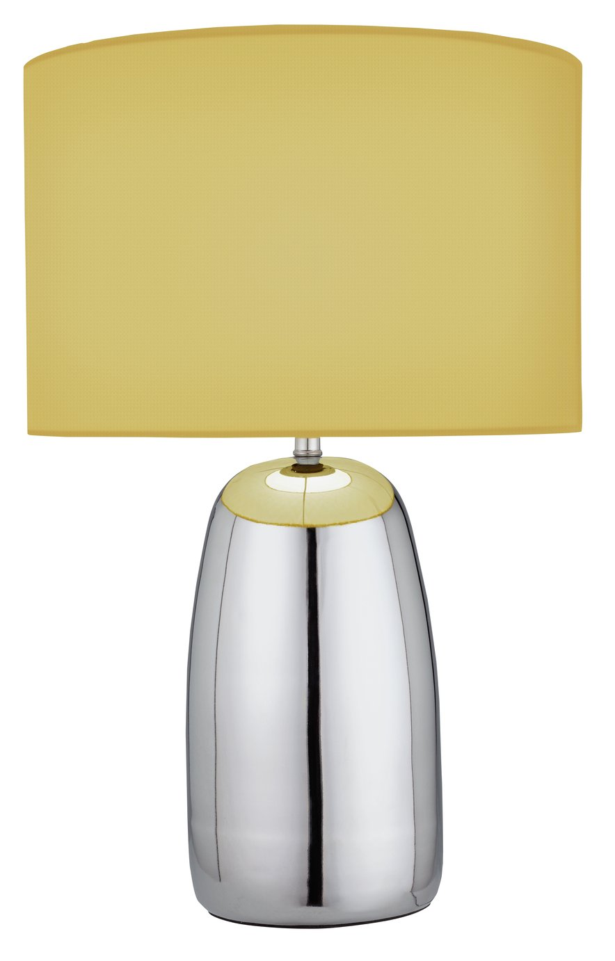 Argos Home Largo Touch Table Lamp - Yellow & Chrome