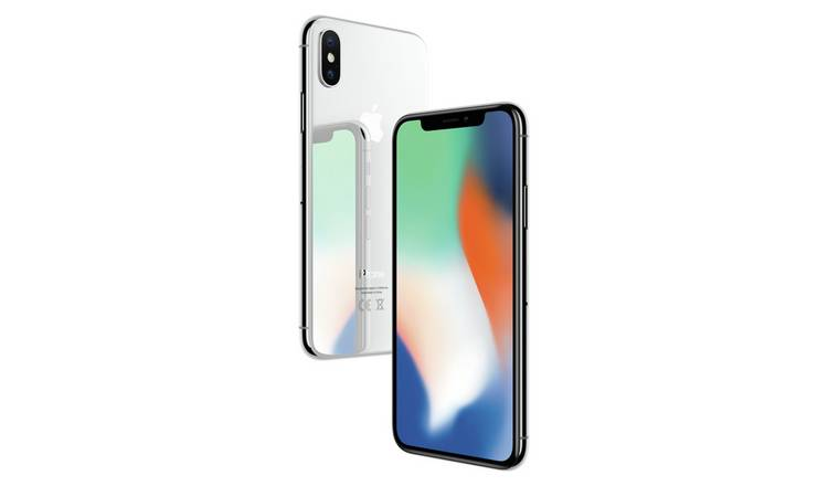 newest 575e2 c398c Buy SIM Free iPhone X 256GB Mobile Phone - Silver | SIM free phones | Argos