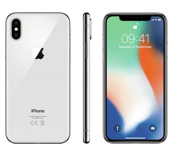Buy SIM Free iPhone X 256GB Mobile Phone - Silver  686d86e0b77