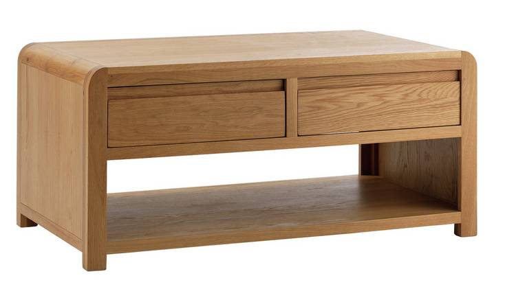 Habitat Novara 2 Drawer Coffee Table - Oak Veneer