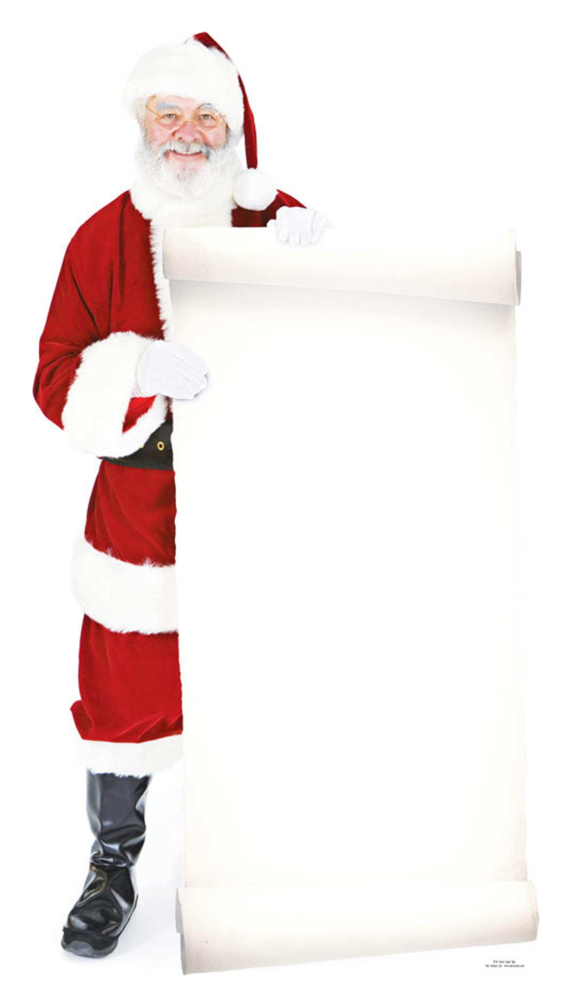 Image of Star Cutouts Santa with Large Sign