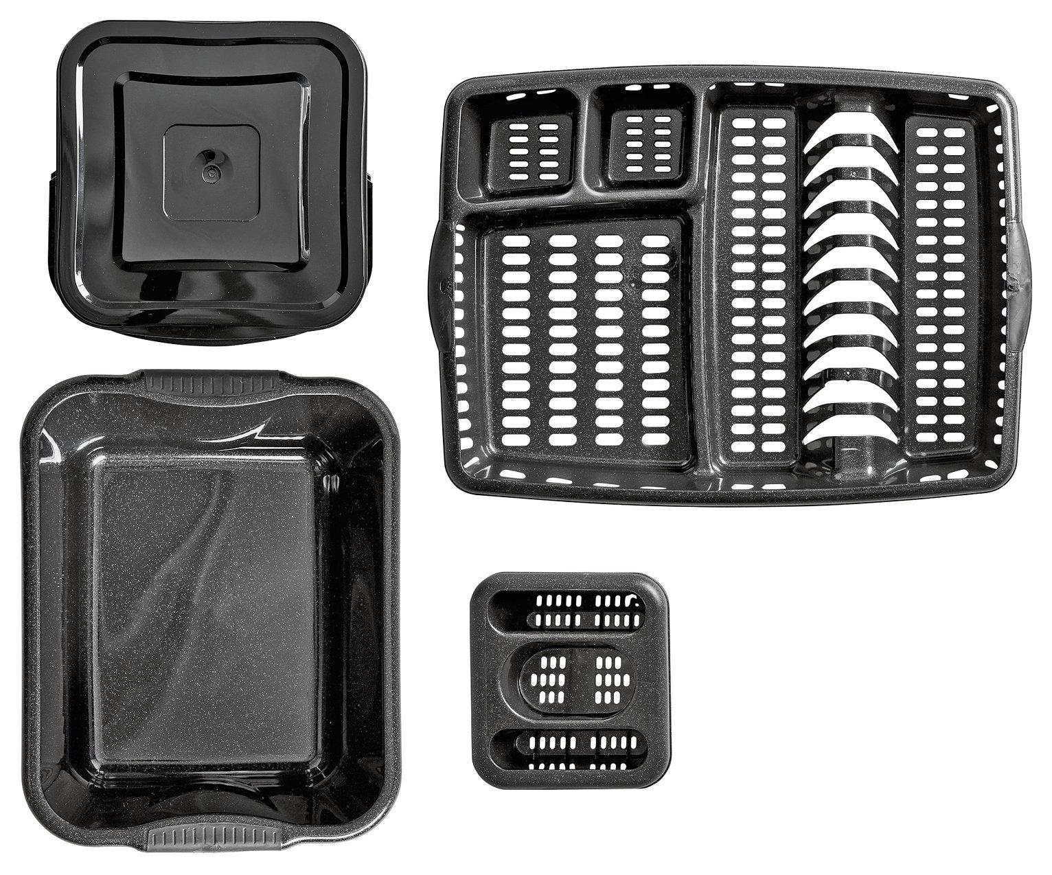 Argos Home Soft Grips Kitchen Set - Black Glitter