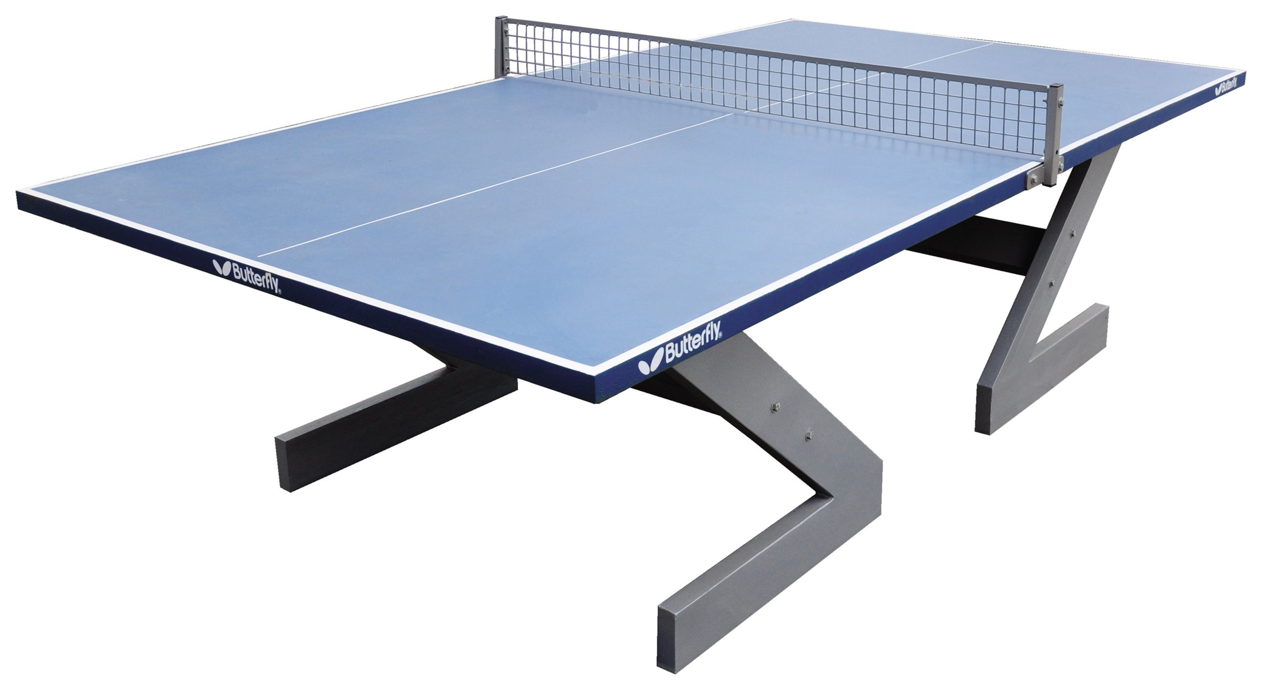 Image of Butterfly City Concrete Blue Table Tennis Table
