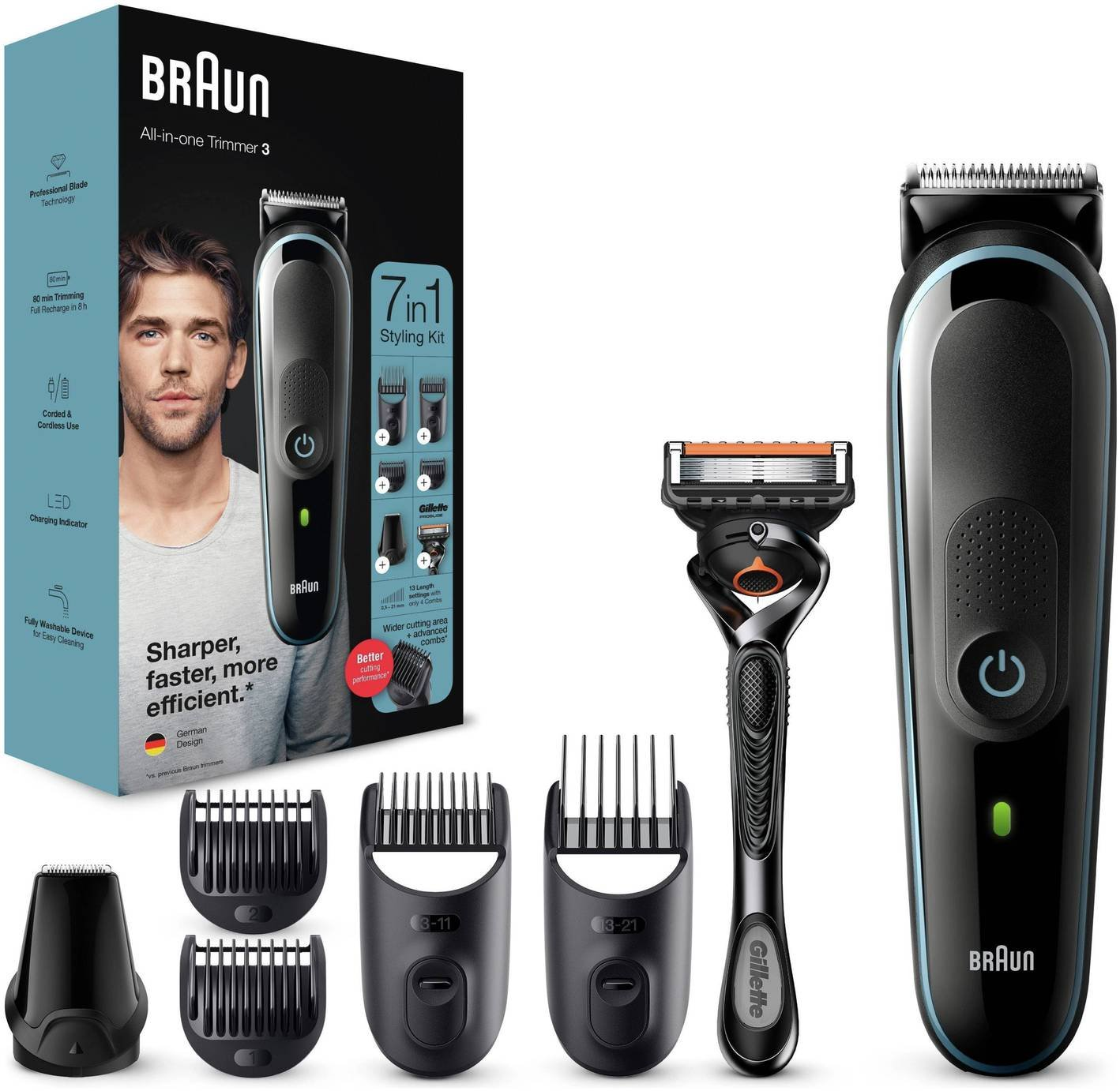 Braun 7-in-1 Beard Trimmer and Hair Clipper MGK3045