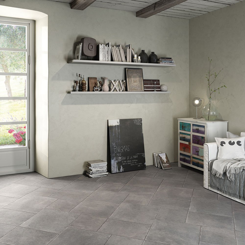 Porcelain Floor Tile - Matt Grey