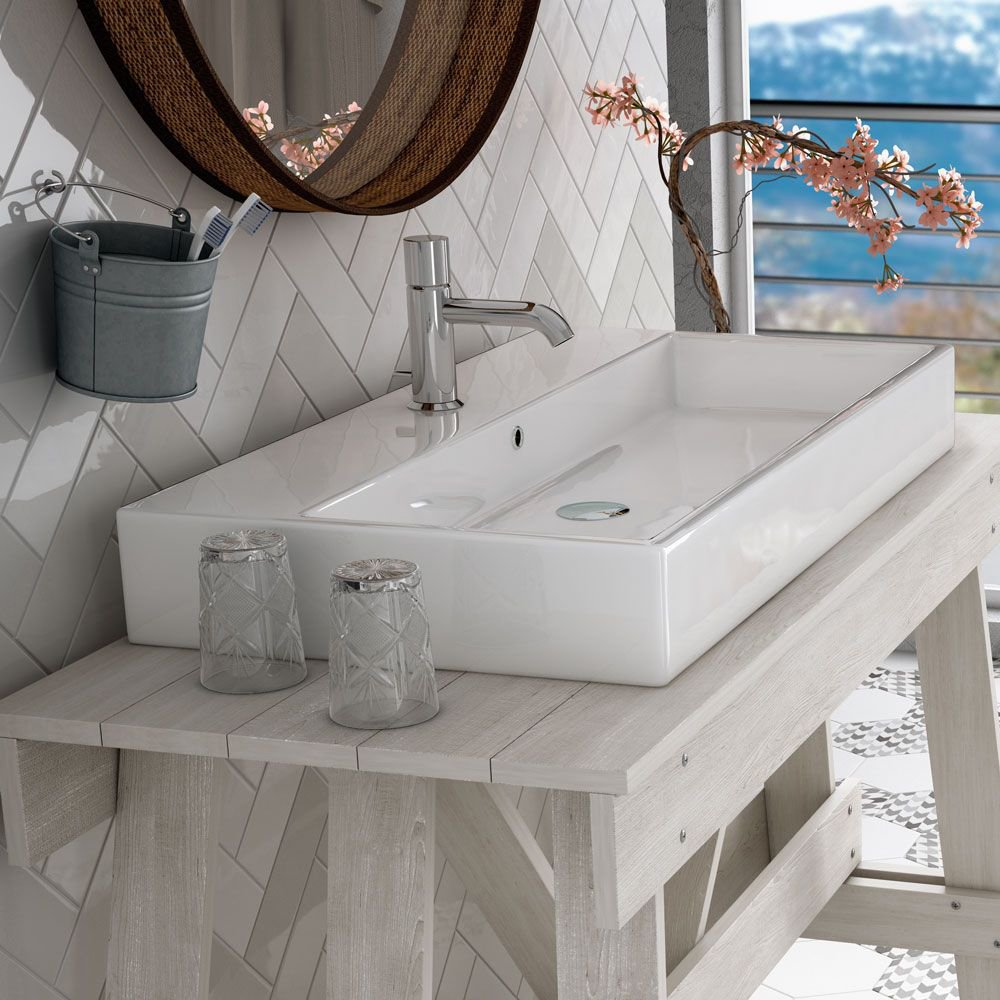 Holborn White Ceramic Wall Tile Pack Of 20 L 250mm W