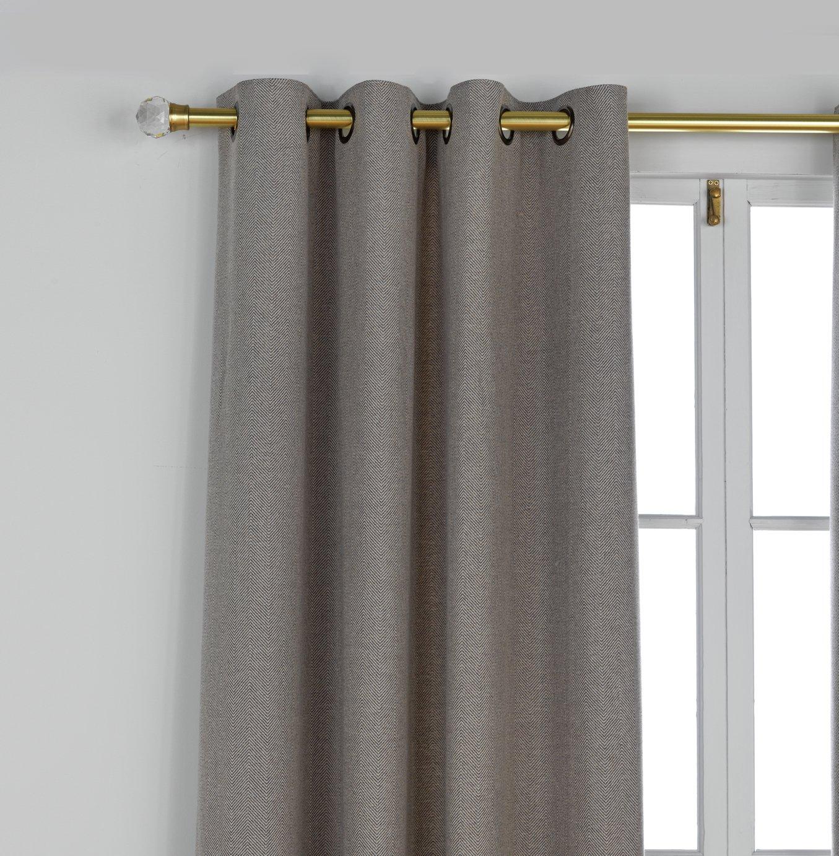 Heart of House Herringbone Curtains - 168x229cm - Charcoal