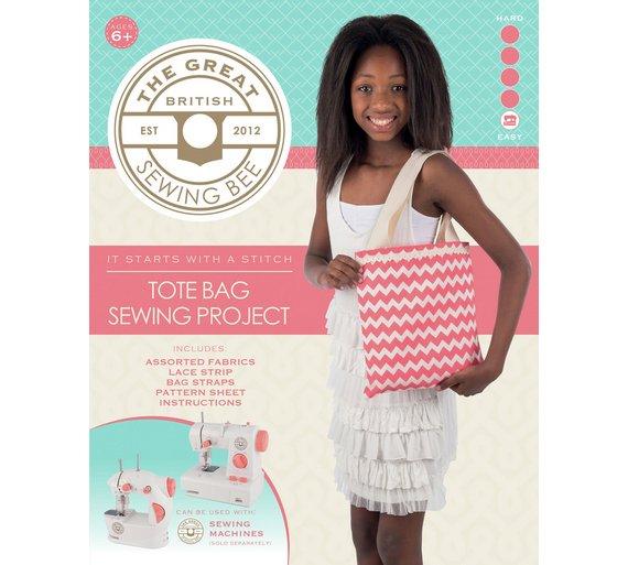 Buy Great British Sewing Bee Tote Bag Kit | Toy craft kits | Argos