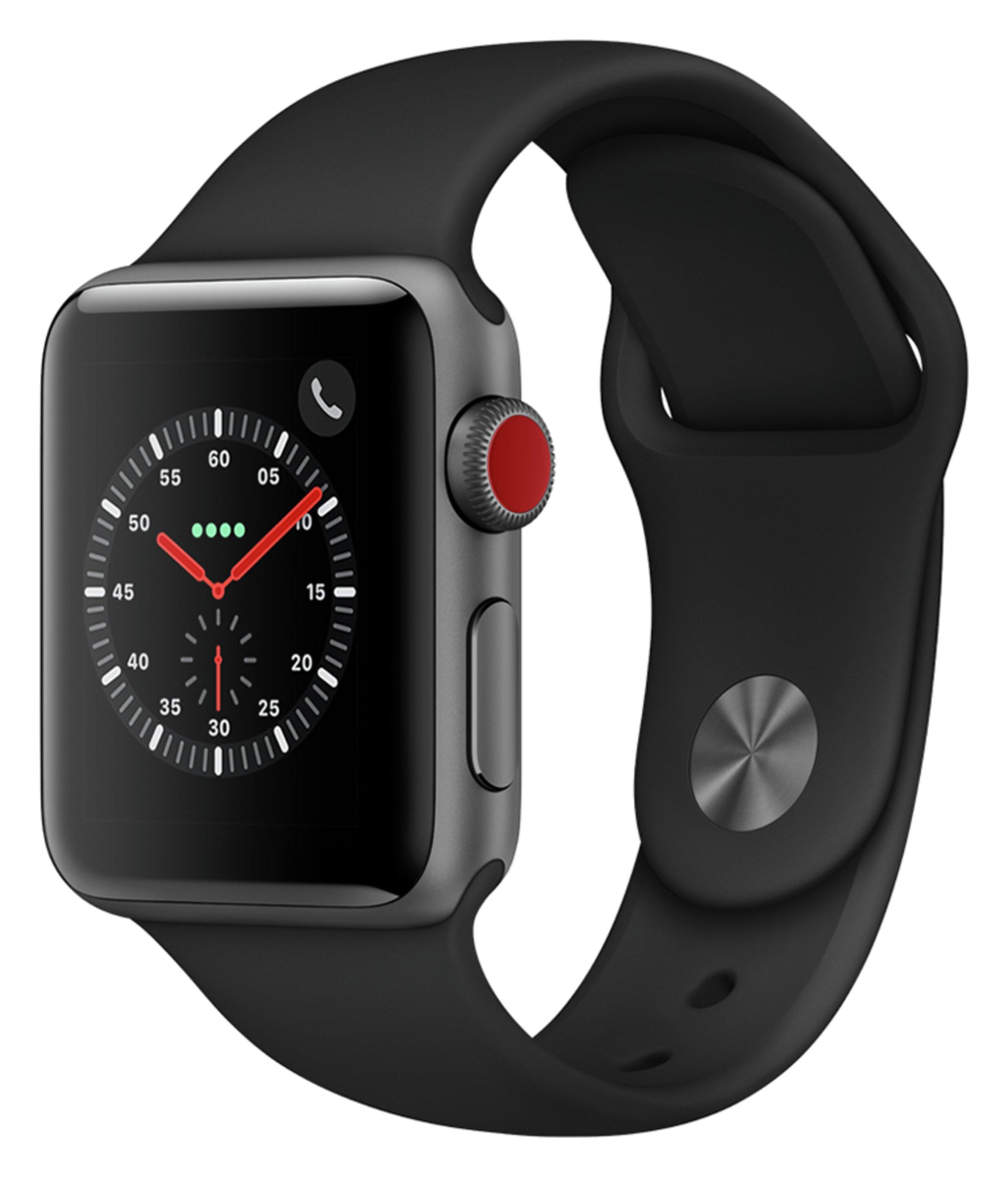Apple Watch S3 Cellular 42mm - Space Grey Alu / Grey Band