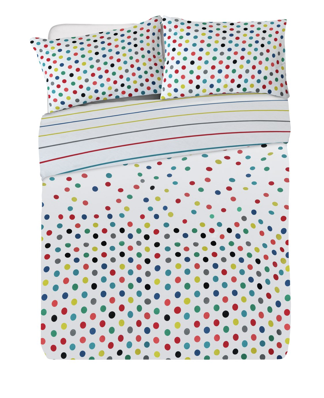 Argos Home Confetti Jersey Bed in a Bag - Double