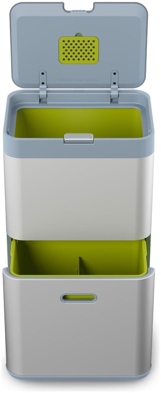 Joseph Joseph Totem 48 Litre Recycling Bin - Silver