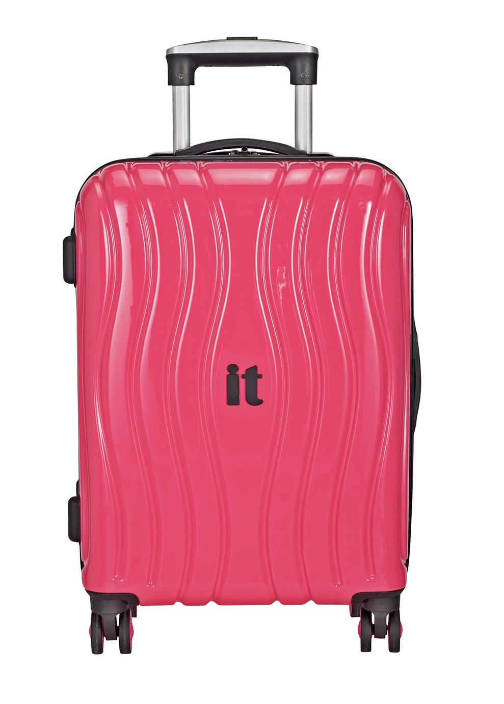 IT Luggage Medium 8 Wheel Hard Suitcase - Metallic Pink