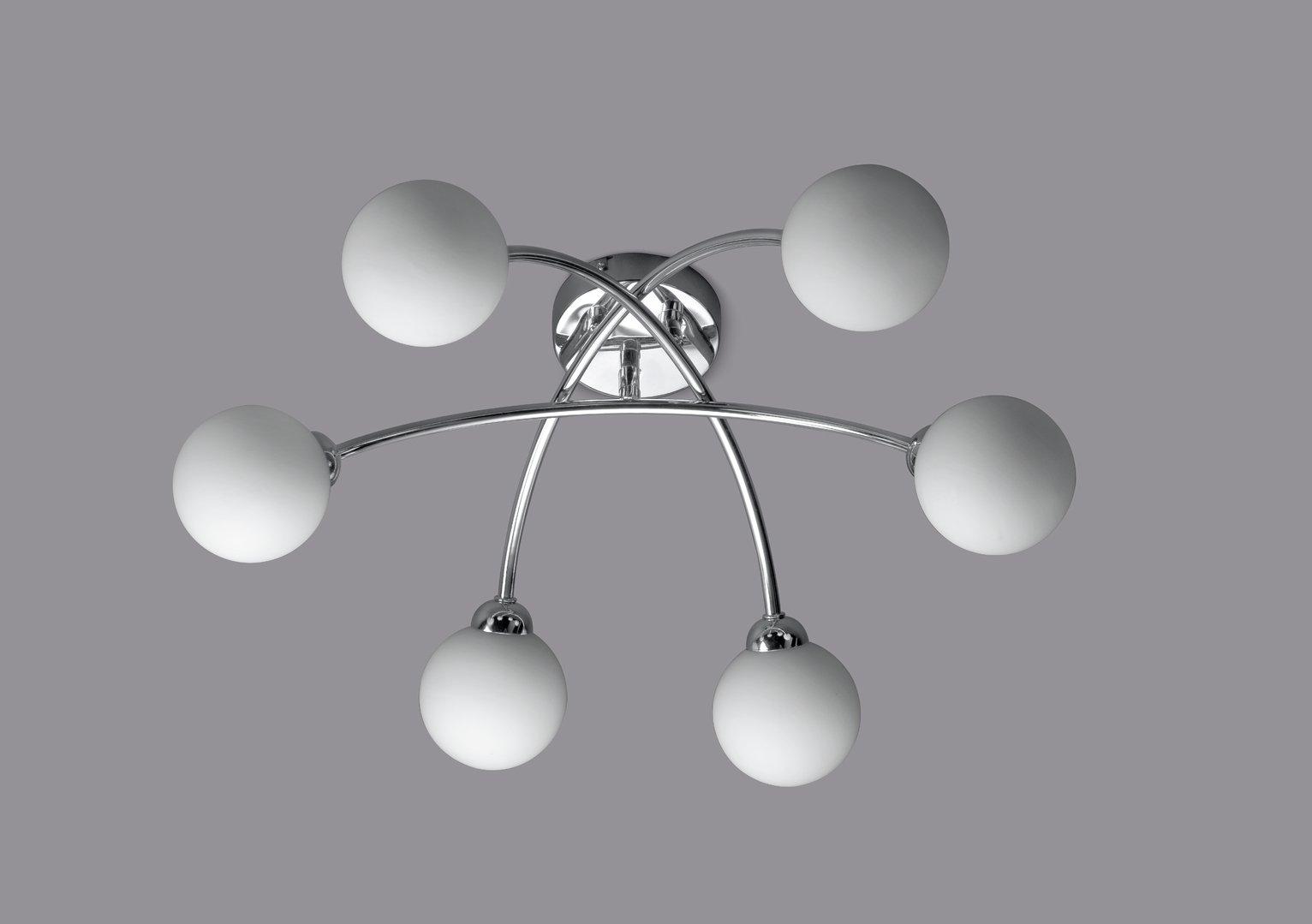 Argos Home Broadford 6 Globe Ceiling Light - Chrome