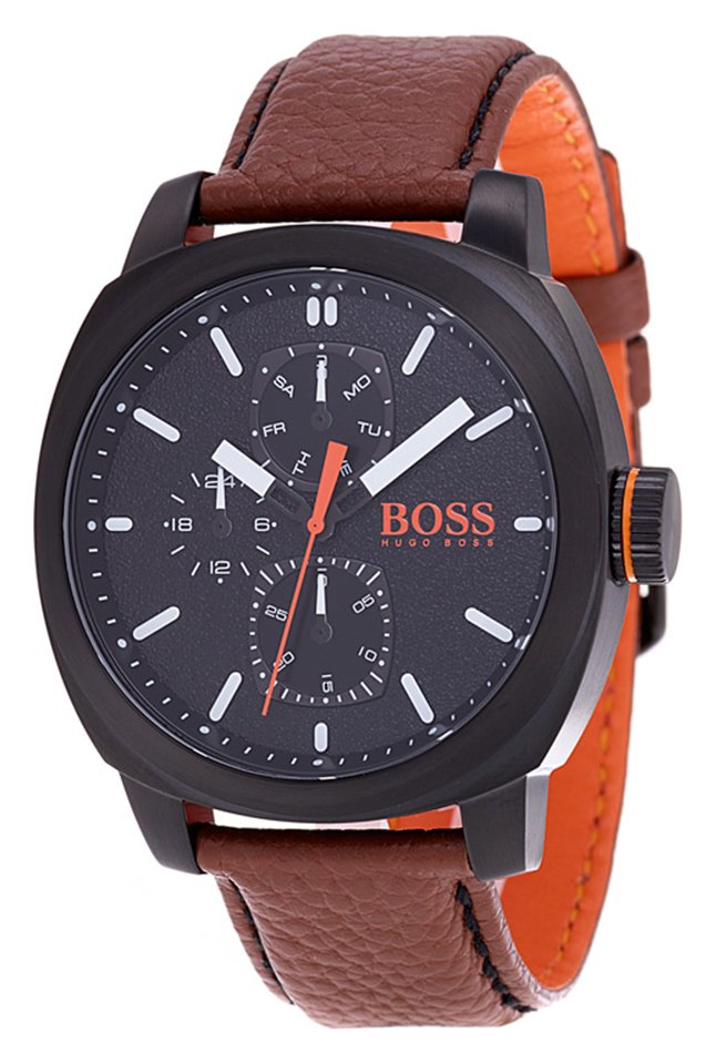 Hugo Boss Orange Cape Town Men's Brown Leather Strap Watch