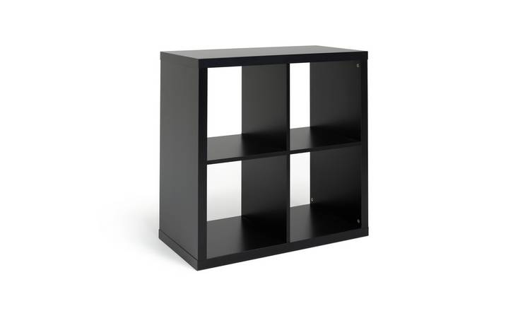 Buy Argos Home Squares Plus 4 Cube Storage Unit - Black | Storage units and  drawers | Argos