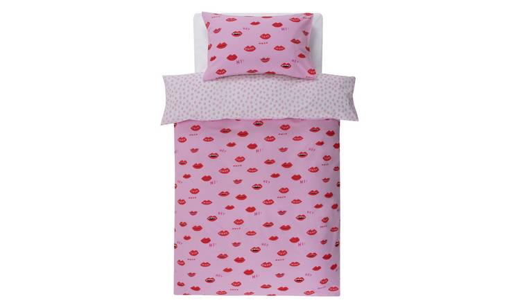 Argos Home Lips Bedding Set - Single