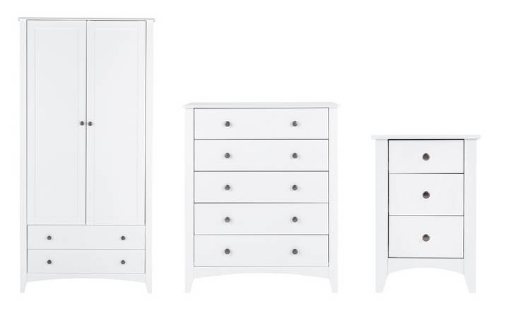 Habitat Minato 3 Piece 2 Door Wardrobe Set - White