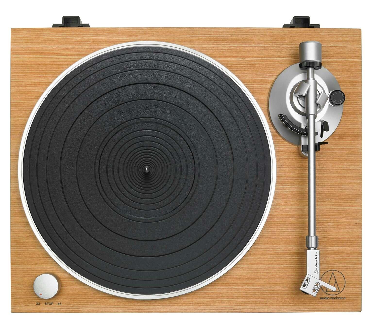 Audio-Technica AT-LPW30TK Manual Belt-Drive Turntable - Teak