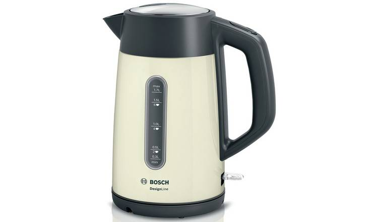 Bosch TWK4P437GB DesignLine Kettle - Cream