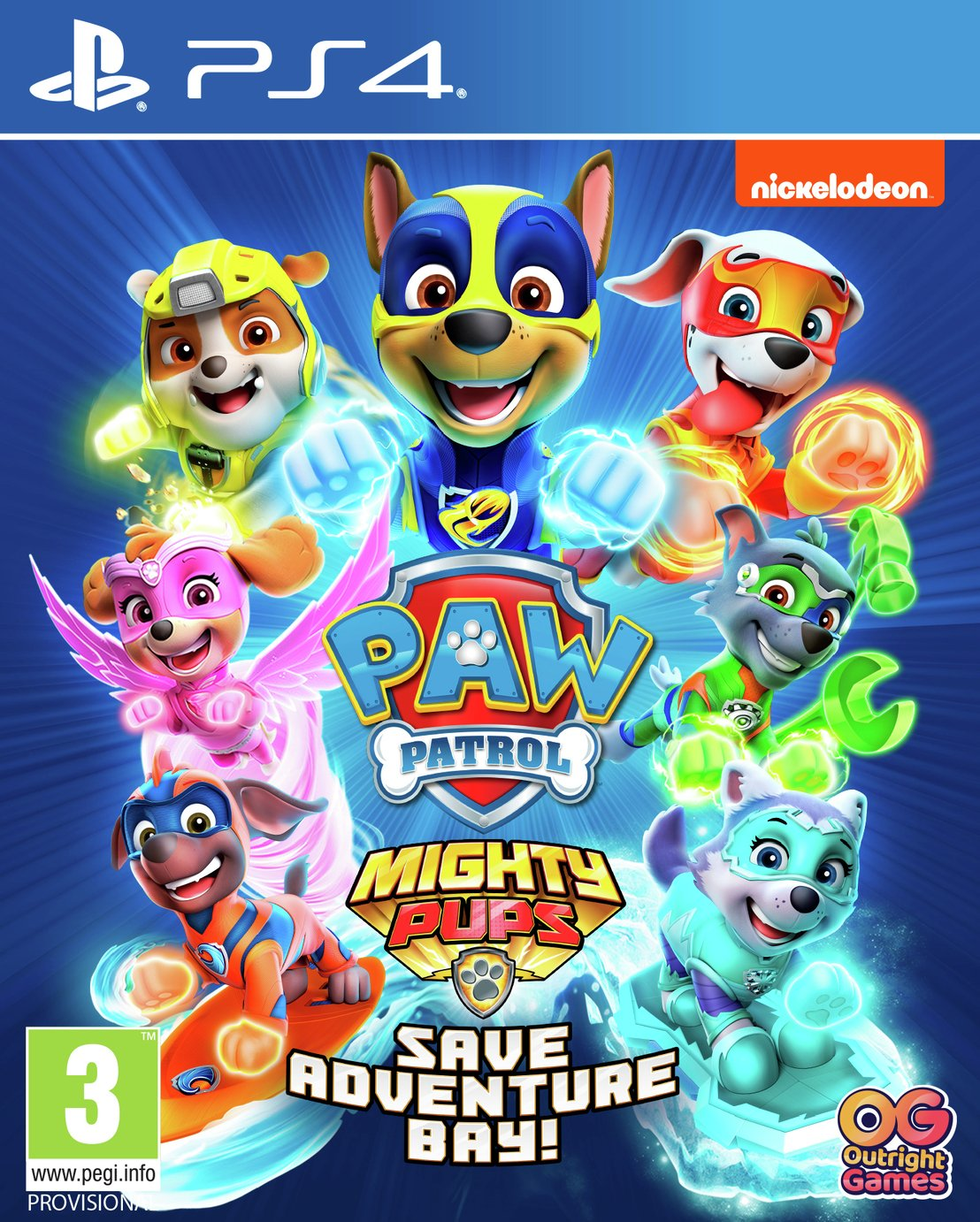 Paw Patrol 2: Mighty Pups Save Adventure Bay PS4 Game