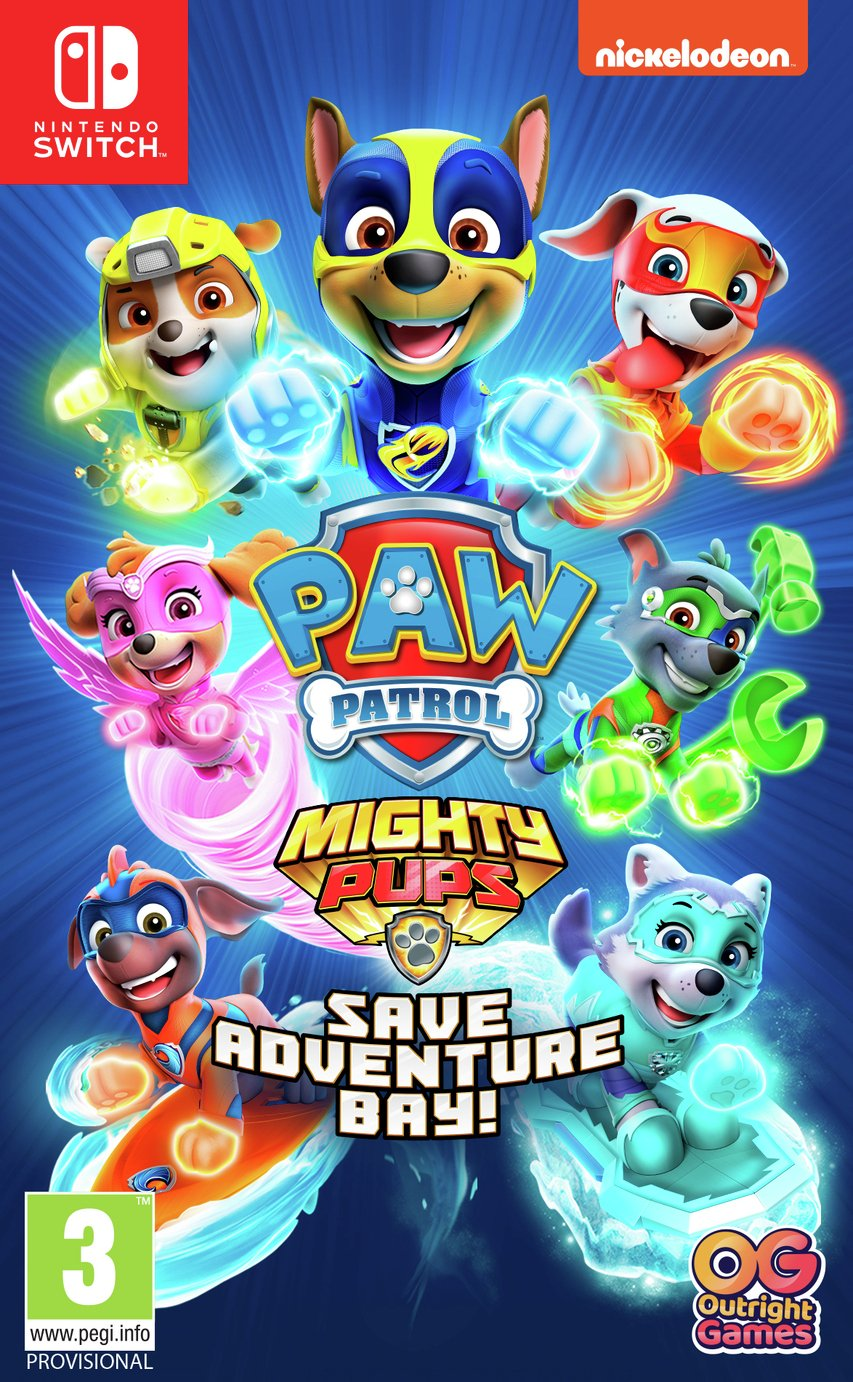 Paw Patrol: Mighty Pup Saves Adventure Bay Switch Game
