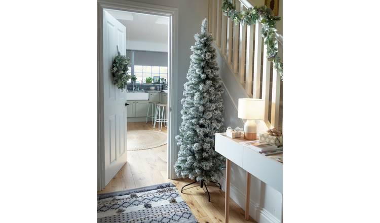 Buy Argos Home Slim 6ft Pop Up Snowy Artificial Christmas ...
