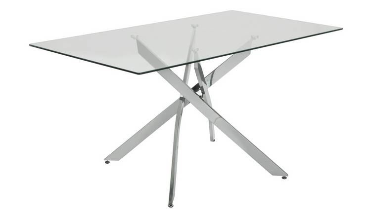 Argos Home Blake Glass 6 Seater Dining Table